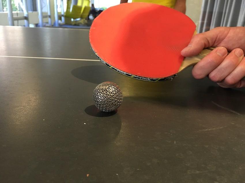 Generative titanium ball